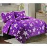 Přehoz na postel 200x240 - Fialové hvězdy
