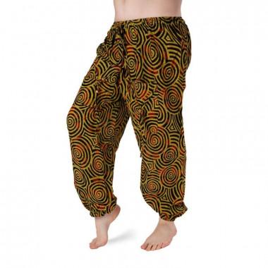 Bavlněné harémové kalhoty - černobílé