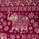 Bavlněné harémové kalhoty - Červený bílý slon