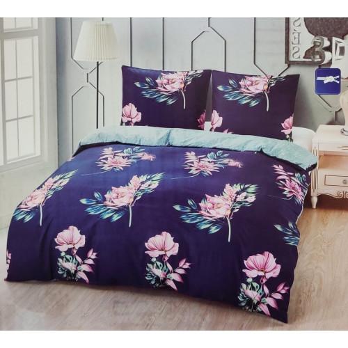 Francouzské povlečení 200x220+2x70x90 Pink Flower
