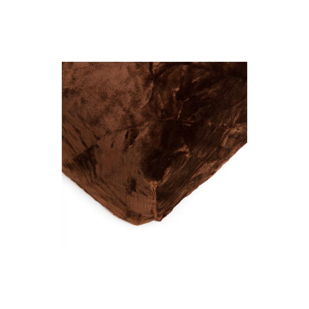 Mikroflanelové prostěradlo 180x200 cm - hnědé
