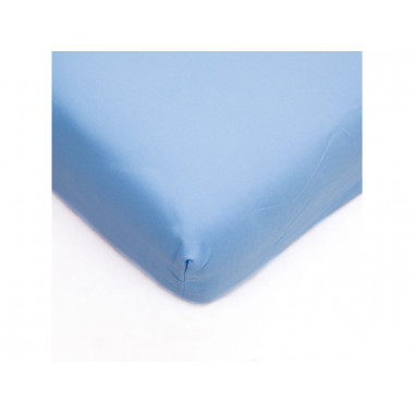 Napínací prostěradlo 180x200cm MICRO satén sv modrá - P8