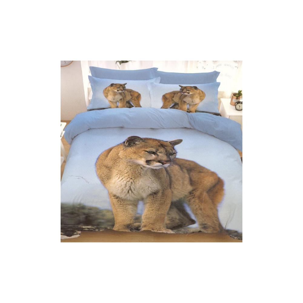 7-dílné 3D povlečení - puma
