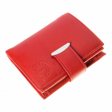 Kožená peněženka LEATHER - červená L001