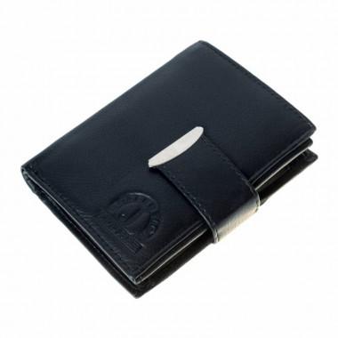 Kožená peněženka LEATHER - černá L002