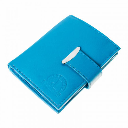 Kožená peněženka LEATHER - tyrkysová L003