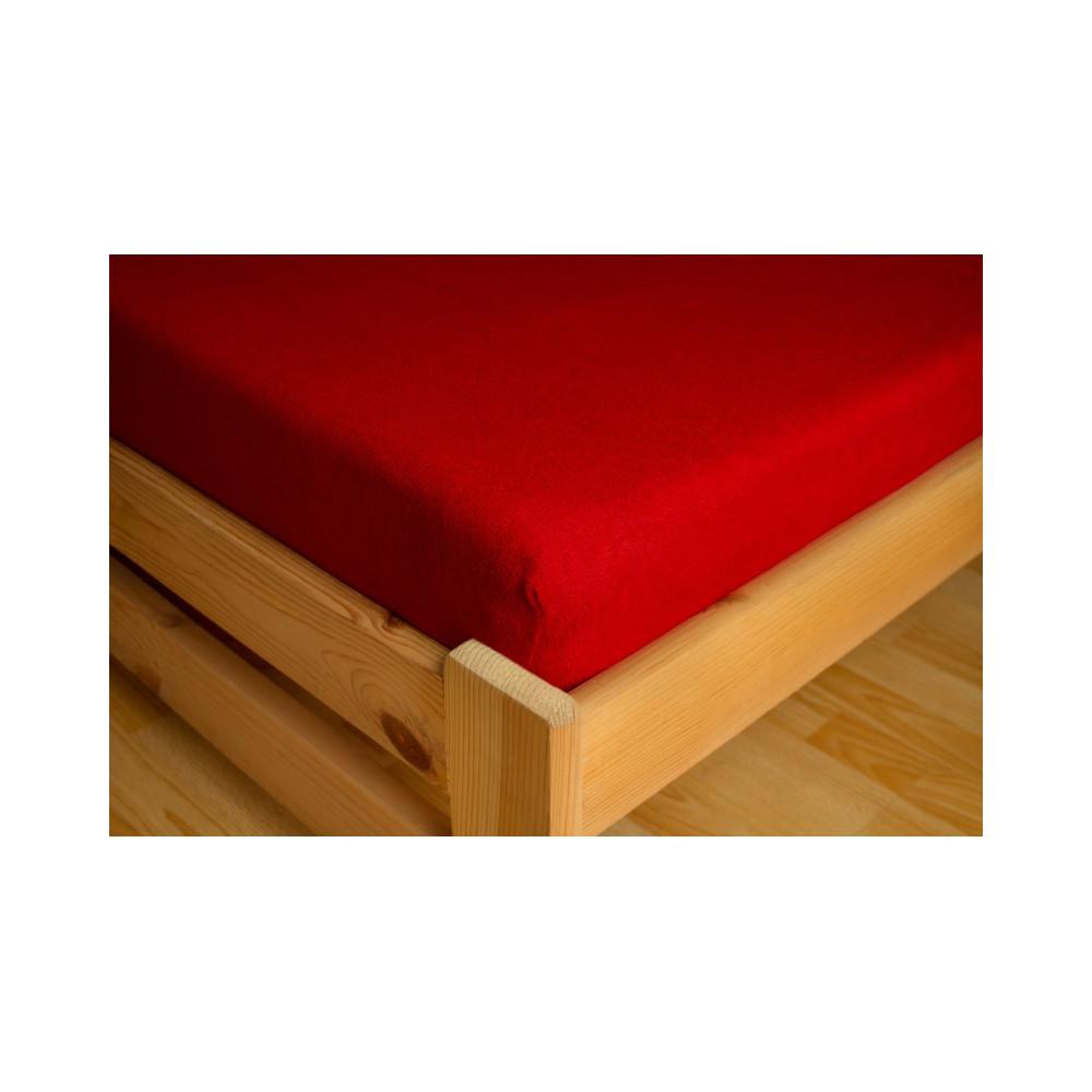 PREMIUM - FROTÉ prostěradlo - červené