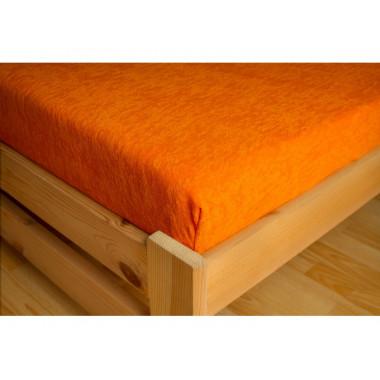 PREMIUM - FROTÉ prostěradlo - oranžova