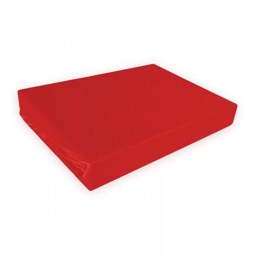 Napínací prostěradlo MICRO satén - červené/BORDO
