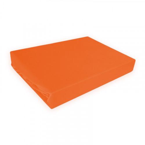 Napínací prostěradlo MICRO satén - cihlově oranžová