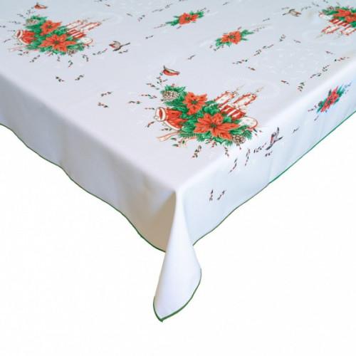 Vánoční dekorační ubrus - Vánoční hvězda - zelená