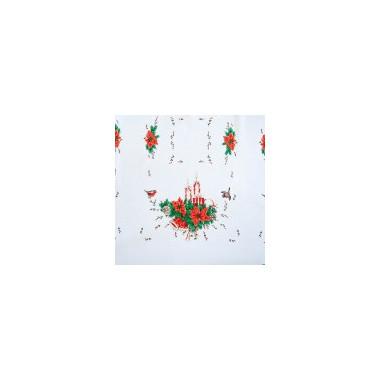 Vánoční dekorační ubrus - Vánoční hvězda - červená