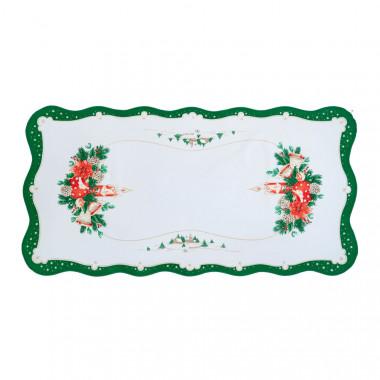 Vánoční dekorační ubrus - obdelník - zelená