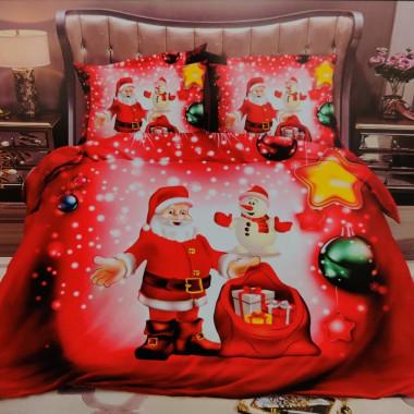 3D povlečení - Vánoční - Santa a darky 2
