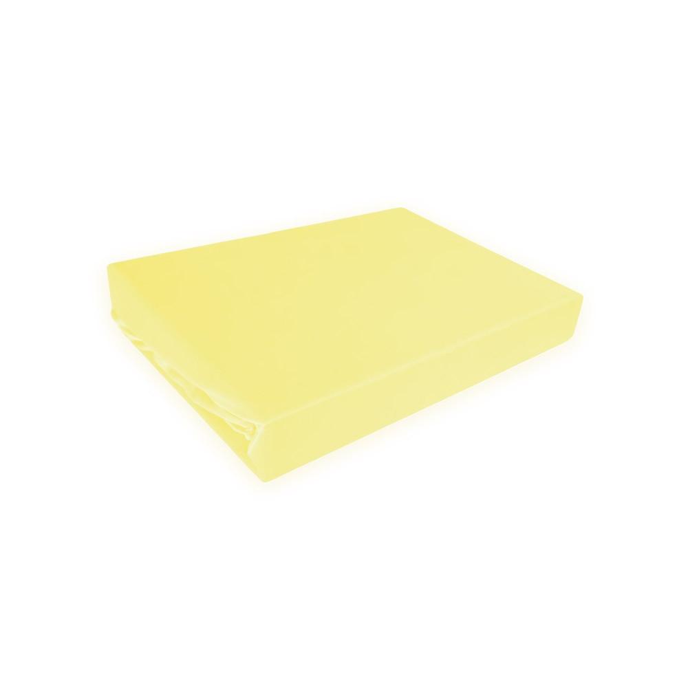 Napínací prostěradlo MICRO satén - žluté