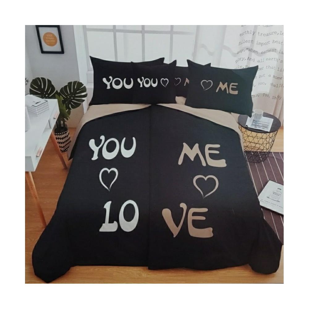 6-dílné oboustranné povlečení - You & Me