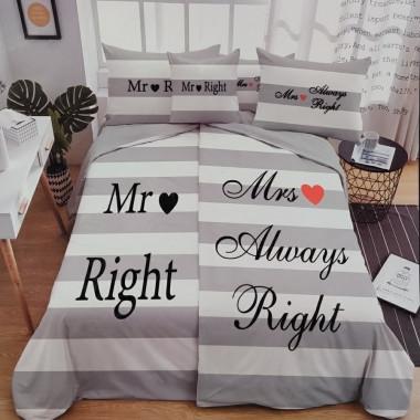 6 - dílné povlečení - Mr & Mrs Right