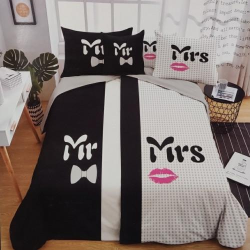 6 - dílné Povlečení - Mr & Mrs 5