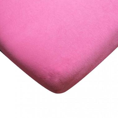 Jersey prostěradlo Exclusive růžová 90x200 cm