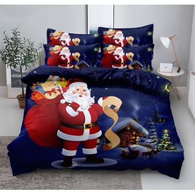 3D povlečení - Santa modré...