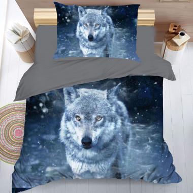 3D povlečení - Vlk - zimní...