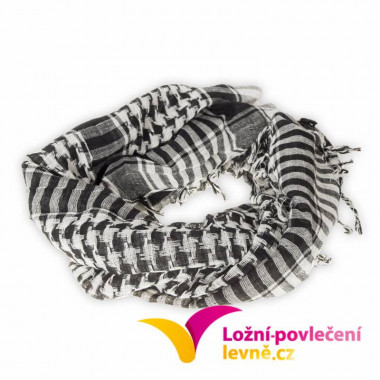 Šátek - arafat černa bíla.