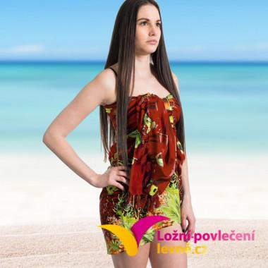 Plážový šátek na plavky - červený